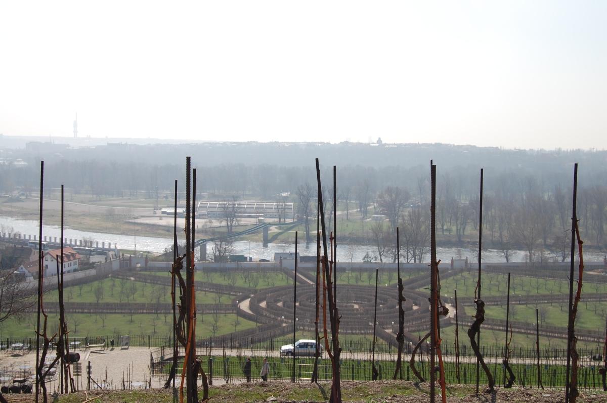 Troja: View from Botanical Gardens