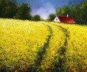 The yellow field, artist Dima Dmitriev