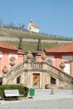 Troja castle: vineyards in the background