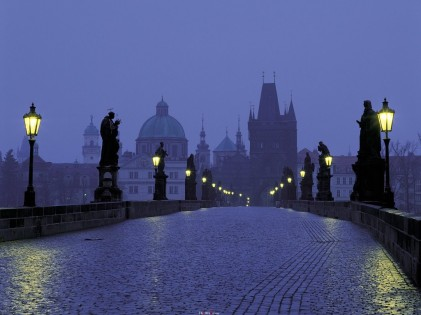 Charles Bridge, Prague, at dusk