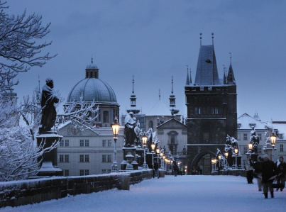 Charles Bridge, Prague, Winter