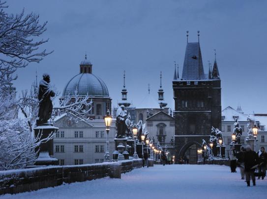 Charles Bridge, Prague, Winter