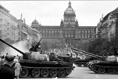 Wenceslas Square, 1968, Prague