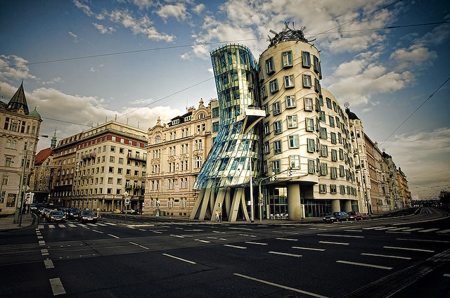 "Dancing House, ""Fred & Ginger,"" Prague"