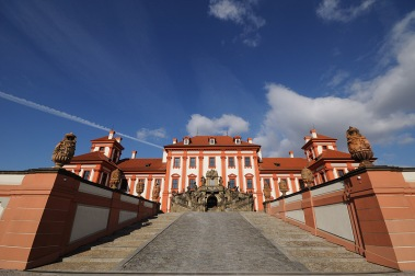 Troja Castle: Staircase leading to gardens & the Vltava river