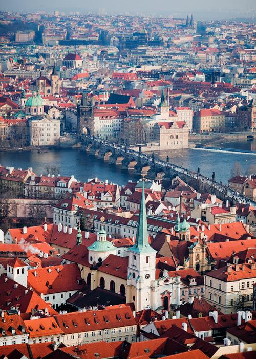 Charles Bridge, Prague, view from above