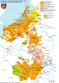 Territories of the house of Valois-Burgundy during the reign of Charles the Bold, 1465 - 1477