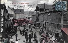Postcard: Indoor & Outdoor Markets, Dijon, ~ 1900s