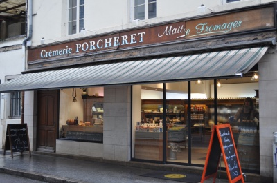 Cremary Porcheret specialty shop, cheeses, creams, rue Bannelier, Dijon