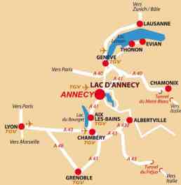 Map & Location Annecy, France