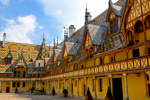 Hospices de Beaune or Hôtel-Dieu, Beaune, Côte d'Or, Burgundy, France