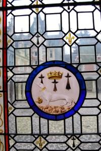 Ermine motif, Queen Ann, duchess of Brittany motif, Porcupine Motif, Royal Château de Blois, Blois, Loire Valley, France