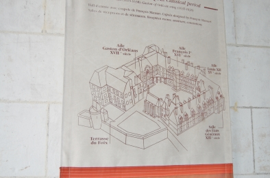 Map, Royal Château de Blois, Blois, Loire Valley, France