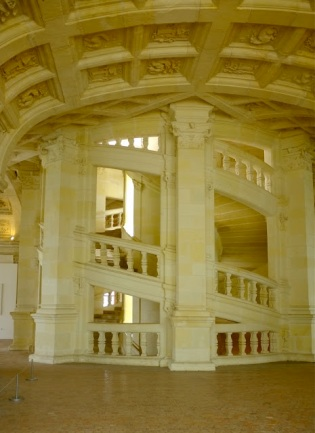 Double Helix Staircase, Chambord, Loire Valley, France