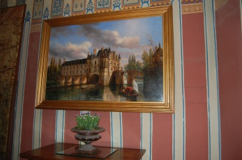 Chenonceau's early painting, Loire Valley, France