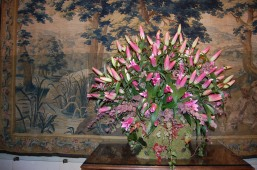 Chenonceau's flower arrangement & Tapestry, Loire Valley, France