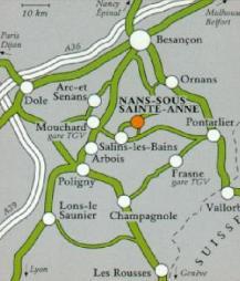 Map, Nans-sous-Sainte-Anne, Franche-Comté, France