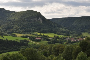 The village of Nans-sous-Sainte-Anne, Franche-Comté, France