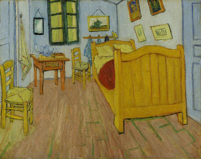 Vincent van Gogh's painting of his bedroom in Arles, France