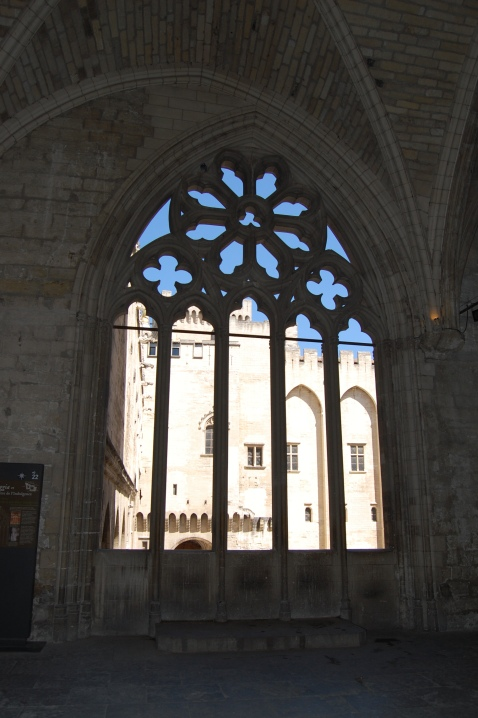 Papal Window, Palais des Papes, Papal Palace, Avignon, France