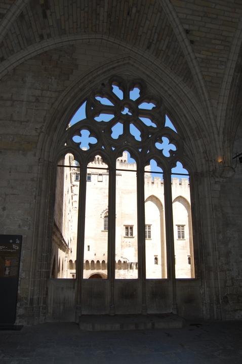Papal Window, Palais des Papes, Papal Palace, Avignon, France