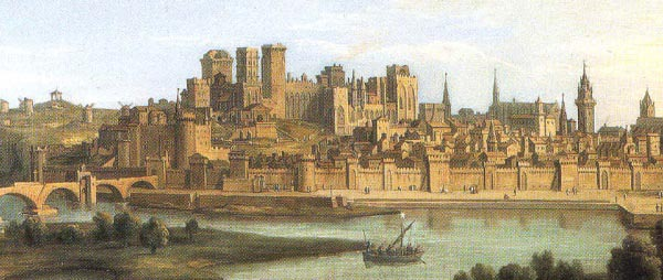 Panorama of Avignon in 1700, Avignon, France