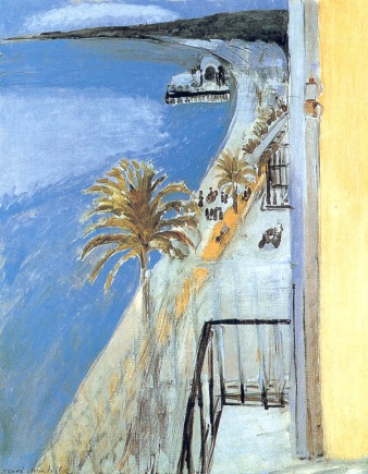 Henry Matisse painting, 1918: The bay of Nice, Nice, France