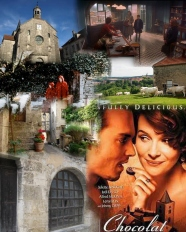 "Film: ""Chocolat"" with Juliette Binoche and Johnny Depp filmed mostly in Flavigny and surrounding areas."