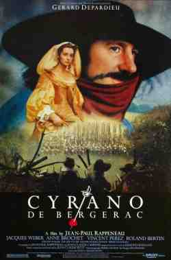 """Cyrano de Bergerac,"" with Gérard Depardieu. Filmed at the Abbaye de Fontenay, Burgundy, France"