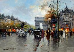 Avenue des Champs-Élysées, Antoine Blanchard, Impressionism, Paris, France