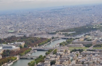 Eiffel Tower, view from the top, Paris, France