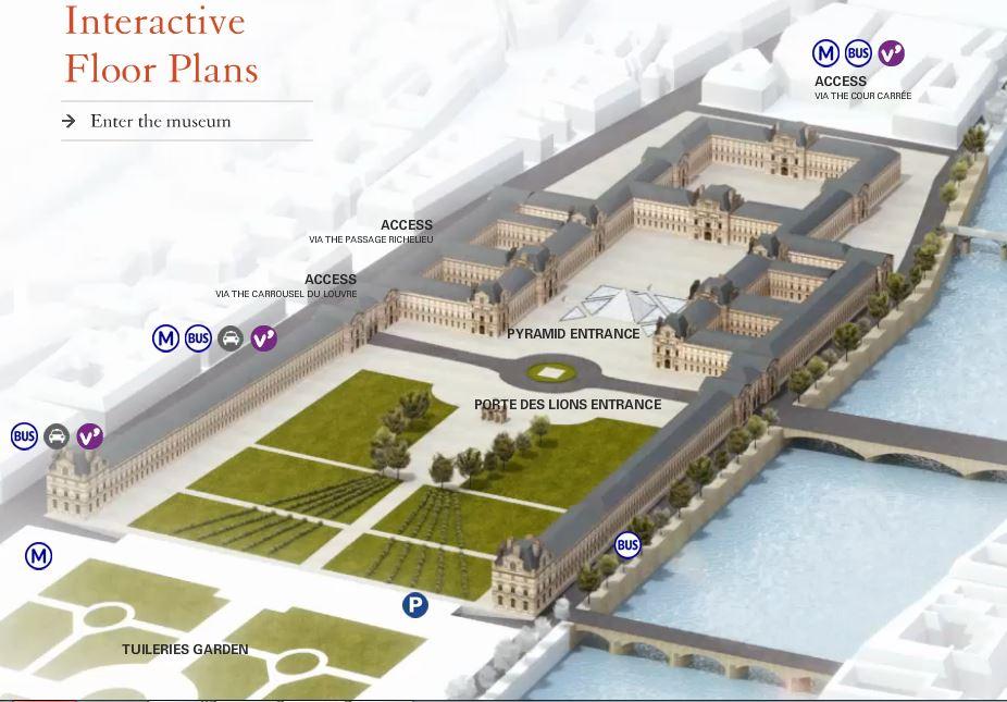 Louvre Museum Map Paris France Le Splendide Voyage - Bus map paris france