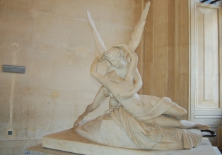 Louvre Museum, Psyche revived by Cupid's kiss by Antonio Canova, 1757-1822, Paris, France