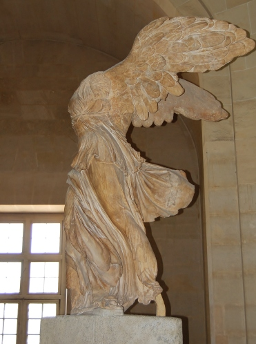 Louvre Museum, The Winged Victory of Samothrace, also called the Nike of Samothrace, 2nd-century BC marble sculpture of the Greek goddess Nike (Victory), Paris, France