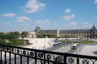 Louvre Museum, view from the upper terrace, Paris, France