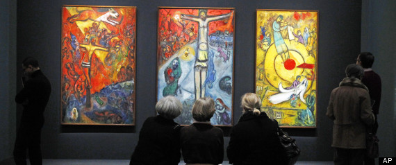 Marc Chagall, Chagall between War and Peace, Exhibit, Paris, France from the Guardian