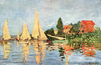 Musée d'Orsay, 'Regattas at Argenteuil' by Claude Monet, circa 1872, Paris, France