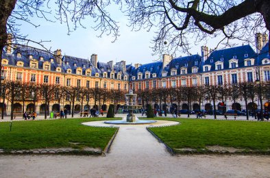 Place des Vosges, Paris oldest public square in Marais, France from http://maisonsvictorhugo.paris.fr/en