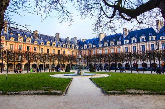 Place des Vosges, Paris oldest public square in Marais, France from http://maisonsvictorhugo.paris.fr/en