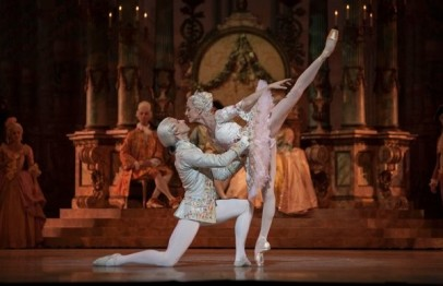Rudolf Nureyev's version of the ballet 'The Sleeping Beauty - La belle au bois dormant,' Josua Hoffalt and Ludmilla Pagliero, Paris Opera Ballet, 2013 Paris, France