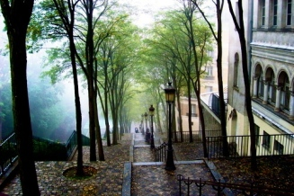 "Famous ""film"" stairs, Montmartre, Paris, France"