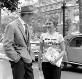 Jean-Paul Belmondo and Jean Seberg in Breathless. 1960. France. Directed by Jean-Luc Godard