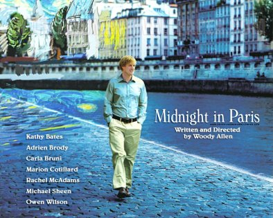 Midnight in Paris written and directed by Woody Allen, Paris, France