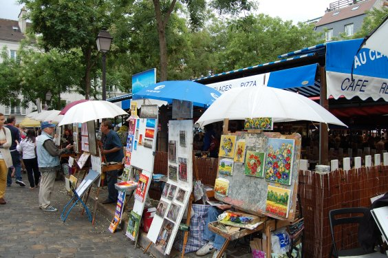 Montmartre, Place du Tertre, Montmartre's old main square, Paris, France