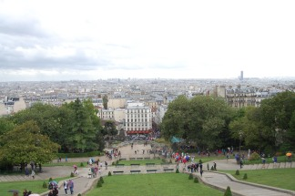 Sacré-Cœur Basilica, Montmartre, View from the summit, Paris, France