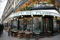 Saint-Germain-des-Prés on the 6th arrondissement Paris, Cafe de Flore St Germain, Paris, France